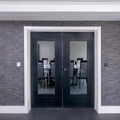 Dining room doors at The House