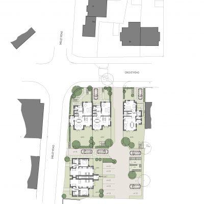 Cricket Road Site Plan - including floor plans