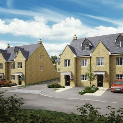 Front shot of Plots 1&2 and 8&9